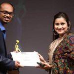 Director Vishnu at Moon White international film festival